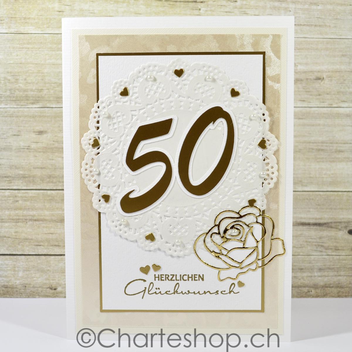 Charteshopch Karte Goldene Hochzeit
